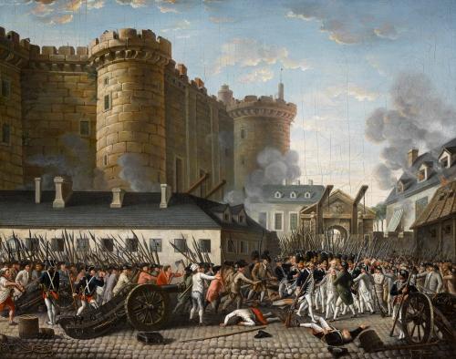 Prise de la Bastille et arrestation du gouverneur M. de Launay, le 14 juillet 1789
